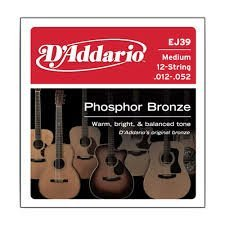 D'Addario EJ39x5 , Acoustic Guitar Strings , Phos/Brnz, Rnd