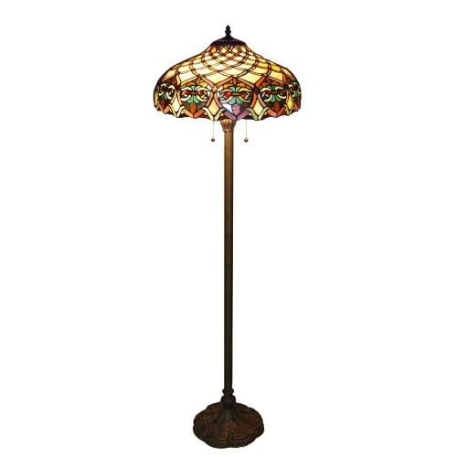 1908 studios tiffany baroque floor lamp 16099. Black Bedroom Furniture Sets. Home Design Ideas