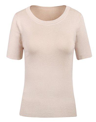 V28 Women's Sleeveless Ribbed Mock Neck Turtleneck Stretchable Knit Sweater Top (One Size Fits: US 0-8, Model 1 Apricot)