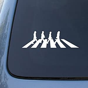 The Beatles - Abbey Road - Car, Truck, Notebook, Vinyl Decal Sticker #2469 | Vinyl Color: White