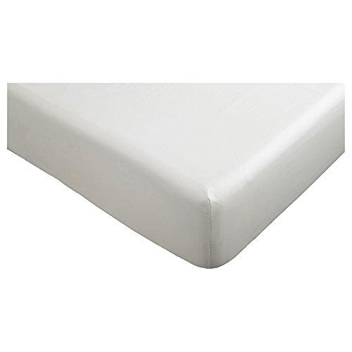 ★クノッパ / KNOPPA / ボックスシーツ / ホワイト(90×200cm)[イケア]IKEA(90173336)