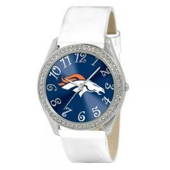 Denver Broncos Glitz White Watch Sports NFL Fashion Jewelry Accessory by NFL