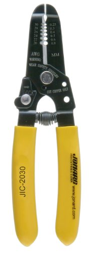 Jonard JIC-2030 20-30 AWG Wire Stripper and Cutter,black oxide finish, 6-3/4