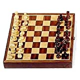 31GVWSRMB0L. SL160  Walnut Magnetic Chess Set Board Wooden W/storage Drawers Strategy Game