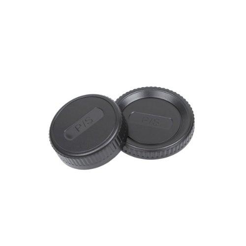 Delamax Deckel-SET - Kameradeckel und Objektivrückdeckel für Pentax K Bajonett, wie Pentax K-01 K-5 K-5II K-5IIs K-7 K-30 K-50 K-m K-r K-x K10D K20D K100D K200D K-500 und *istD, Samsung GX-1L GX-1S GX-10 GX-20