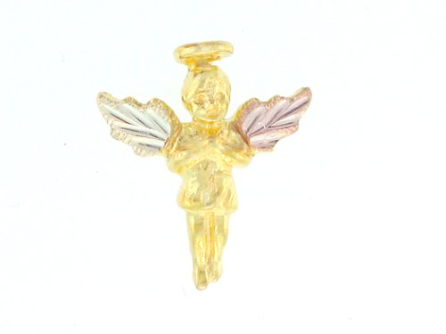 Yellow-gold Black Hills Gold Angel Tie-tac/ Lapel-pin