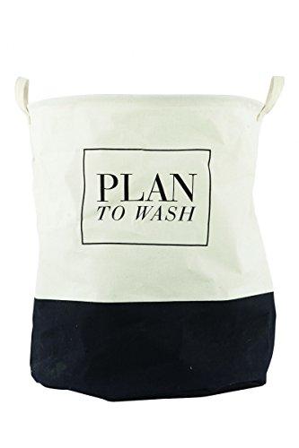 Laundry basket, Plan To Wash, dia.: 40 cm, h.: 50 cm, canvas