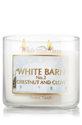 Bath and Body Works White Barn Candle Co 3 Wick 14.5 Oz Scented Candle CHESTNUT and CLOVE