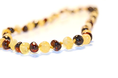 The Art of Cure Baltic Amber Teething Necklace for Baby (Cognac/Milk)