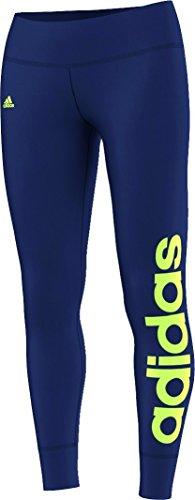 Leggings da donna adidas Essentials Linear, donna, Hose Essentials Linear Tights, blue - Blau/Gelb, XXL
