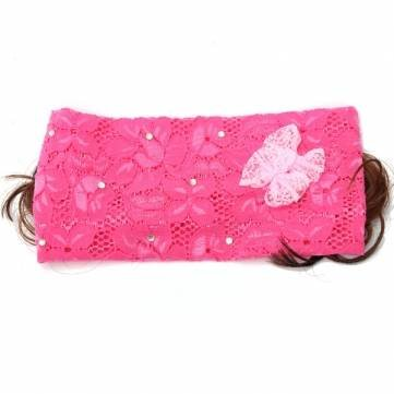 Baby Toddler Wig Lace Bow Feather Head Bands Hair Accessories