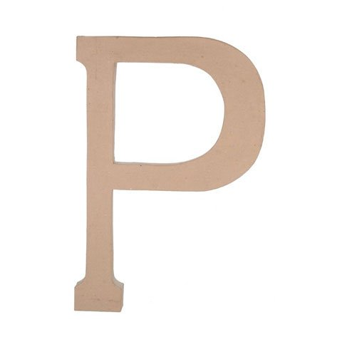 Bulk Buy: Darice Diy Crafts Paper Mache Letter P 23.5 Inches (3-Pack*) 2860-P