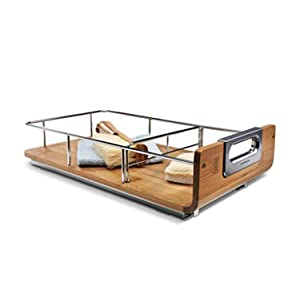 pull out bed: simplehuman 9 inch pull-out cabinet organizer - bamboo