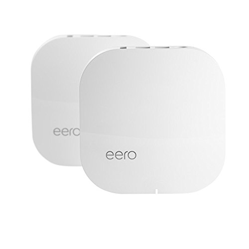 eero Home WiFi System (Pack of 2) - Blanket Your Home in WiFi, Replaces Wireless Router and Range Extender, Gigabit Speed, WPA2 Encryption (Re 1000 Range Extender compare prices)