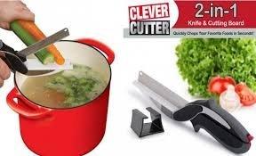 Generic Clever Cutter 2-in-1 Knife and Cutting Board Scissors
