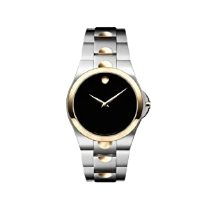 Movado Men's 605635 Luno Two-Tone Stainless Steel Watch from amazon.com