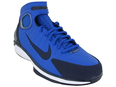 Mens Nike Air Zoom Huarache 2K4 Basketball Shoes Game Royal / Black and Blue / White 511425-400 Size 8.5