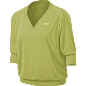 Asics Women's 3/4 Tennis Top, Pistachio, Small
