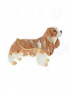 Kingspoint King Charles Trinket Box & Necklace