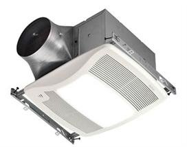 Nutone Bathroom Fan, 110 CFM Single Speed ULTRA Series w/ Humidity Sensing Light for 6