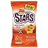 Walkers Baked Stars Mild Sweet Chilli Crisps 6 X 23G