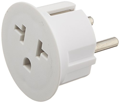 OREI American USA To European Schuko Germany Plug Adapters CE Certified Heavy Duty - 2 Pack (German Plug Adapter compare prices)
