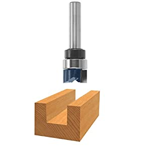 Bosch 85674M Router Bit,Carbide Tip 1/2 x 5/16 Straight with Top Bearing 1/2 Shank