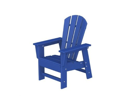 Recycled Earth-Friendly Venice Beach Outdoor Kid's Adirondack Chair - Ocean Blue