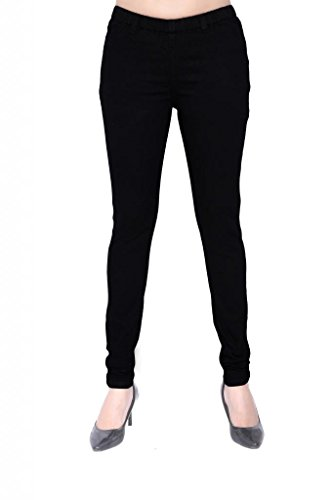 Elaine Women's Cotton Spandex Pant Jeggings (Black_42)