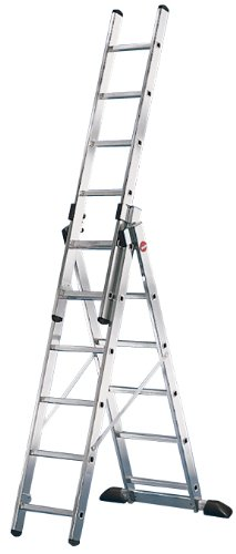 Hailo ProfiStep 150 kg Capacity Combination Ladder (3 x 6-Rung Sections)