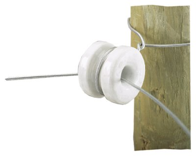 Dare Products 2356-10 Electric Fence Insulator, Corner, Porcelain - Quantity 25