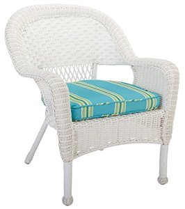 Living Accents 65-070490rivchr Riviera Wicker Chair, White (White Wicker Resin Chair compare prices)