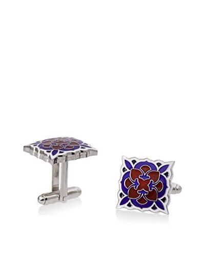 L2 by LOMA Red and Blue Deco Bloom Cufflinks