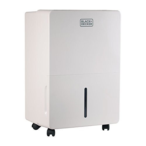 BLACK+DECKER BDT70WT 70 Pint Portable Dehumidifier, White (70 Pints Dehumidifier compare prices)