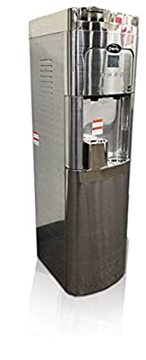 Coffee Maker & Water Cooler, K-cup Compatible, a True Stainless Steel Water Dispenser with Bottom Loading, Self-cleaning, Ice Cold Water and Steaming Hot Water
