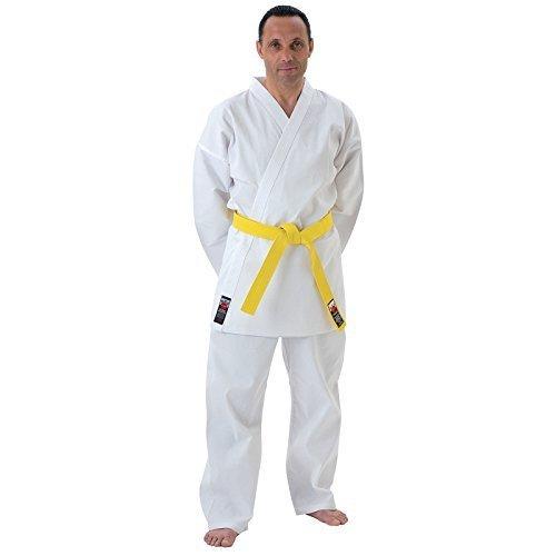 Cimac Giko Karate Abiti - Marziali Arti - Bianco Cintura Incluso (110cm - 200cm) - Bianco, 120cm