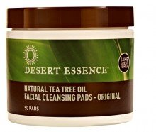 Desert Essence Natural Cleansing Pads Withtea Tree Oil, 50Ct front-162163