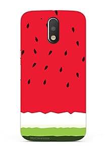 MiiCreations 3D Printed Back Cover for Motorola Moto G4 Plus,Watermelon
