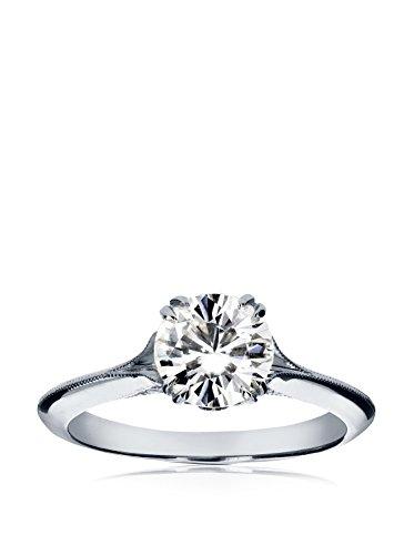 Kobelli 14K White Gold Moissanite & Diamond Vintage Engagement Ring