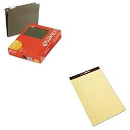 KITNSN1247632UNV14115 - Value Kit - NIB - NISH 7530011247632 Writing Pad (NSN1247632) and Universal Hanging File Folders (UNV14115)