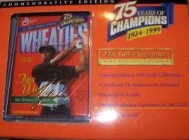Mini Wheaties Box - 75 Years of Champions 24K Signature - Tiger Woods