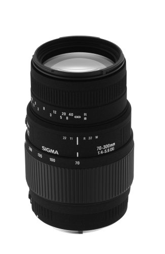 Sigma 70-300mm f/4-5.6 DG Macro Telephoto Zoom Lens for Minolta and Sony SLR Cameras