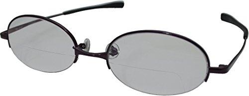 視楽楽(Shi-ra-ra) 日本製 上下遠近シニアグラス ブルーライトカットタイプ PC老眼鏡 +1.50 ワイン G08907PC15