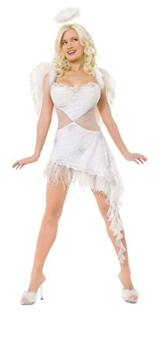 Playboy Womens Hefs Angel Outfit Fancy Dress Sexy Costume