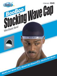 Dream-Boo-Boo-STOCKING-WAVE-CAP-Wire-Eastic-Band-Item-045-Black