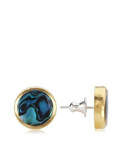 Gurhan Paua Shell & 24K Yellow Gold Earrings