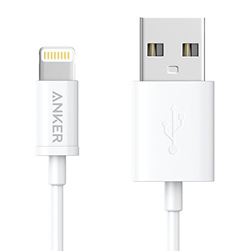 iPhone charger, Anker Lightning to USB Cable (3ft) for iPhone 6s 6 Plus 5s 5c 5, iPad Pro, Air 2, iPad mini 4 3 2, iPod touch 5th gen / 6th gen / nano 7th gen [Apple MFi Certified] (White) (Join Advantage compare prices)