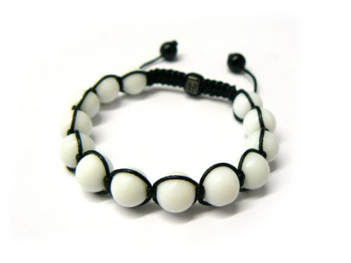 White Shamballa 10mm