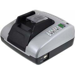 Powery Akku-Ladegerät mit USB für Werkzeug Makita BHP442RFE, 100-240V