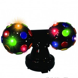 Rotating multi coloured disco ball light